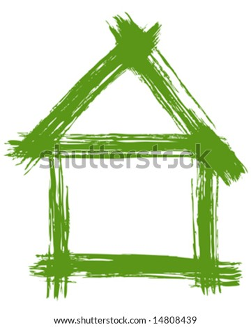 Vector illustration of a green house