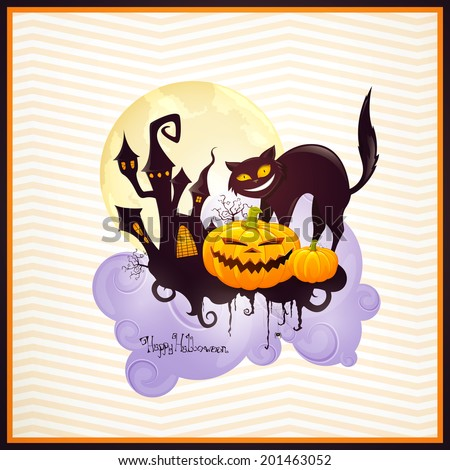 Vector Illustration of a Halloween Design #201463052