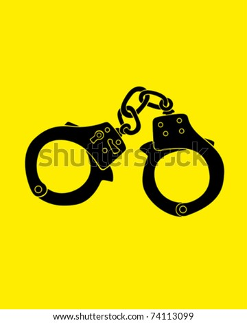 Vector illustration of a handcuffs