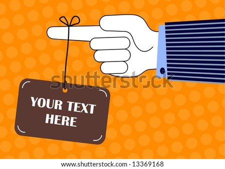 vector illustration of a hanging sign ready for your own text