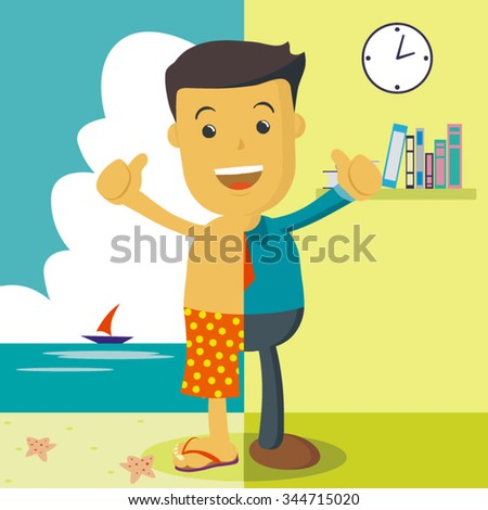 vector illustration of a happy