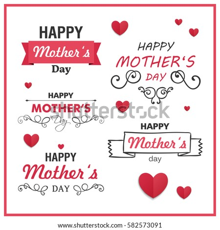 Vector Illustration of a Happy Mothers Day Design Elements