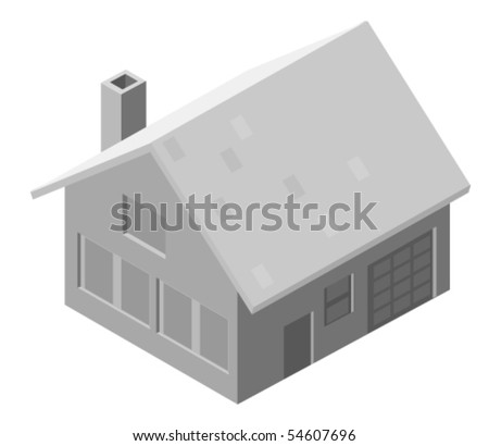 Vector illustration of a house