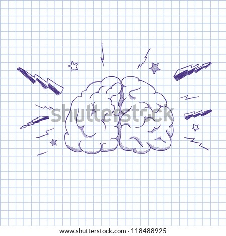 Vector illustration of a human brain