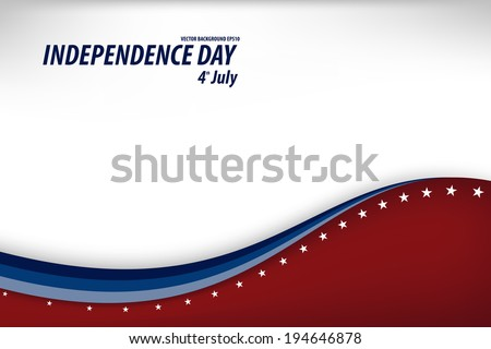Vector Illustration of a Independence Day Design