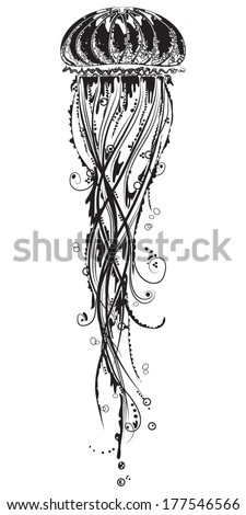 vector illustration of a jelly