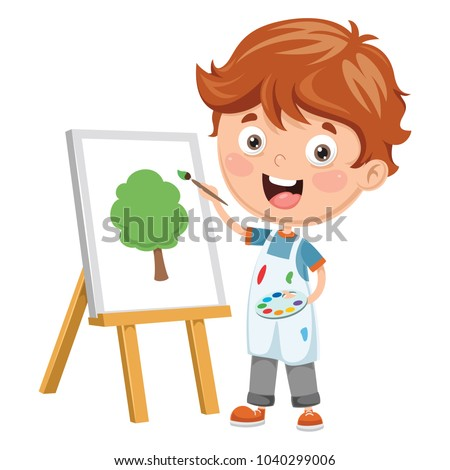 vector illustration of a kid