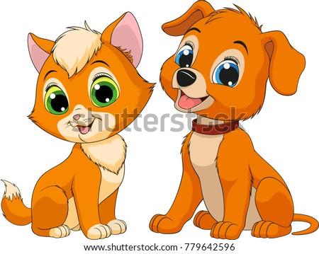 vector illustration of a kitten