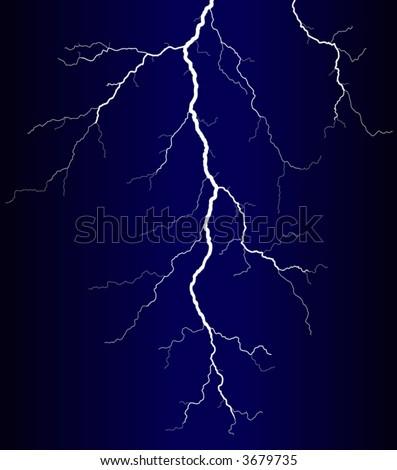 Vector illustration of a lightning bolt