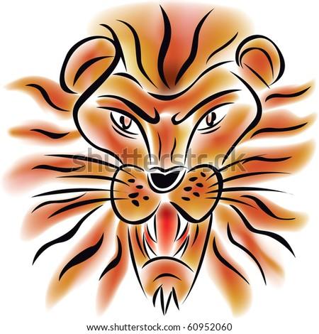 vector illustration of a lion