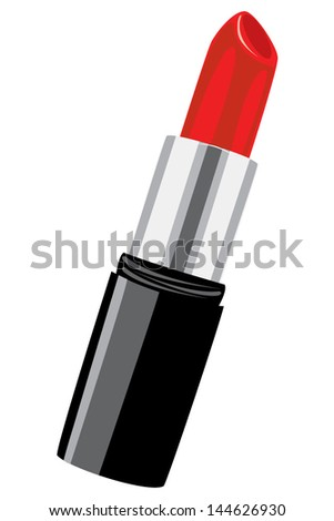 Vector illustration of a lipstick isolated on white