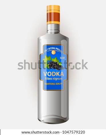 vector illustration of a liquor