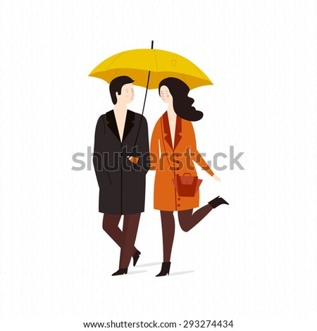 vector illustration of a loving