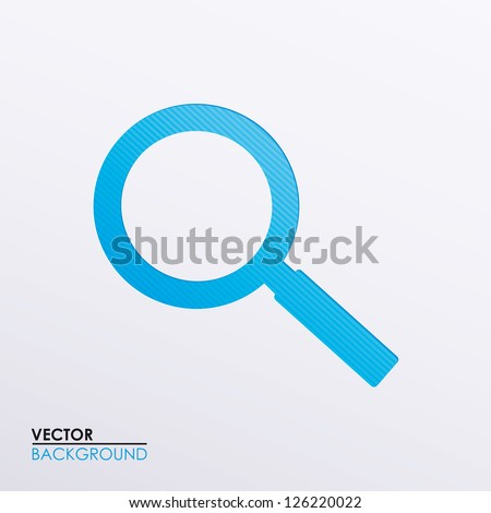 Vector illustration of a magnifying glass icon
