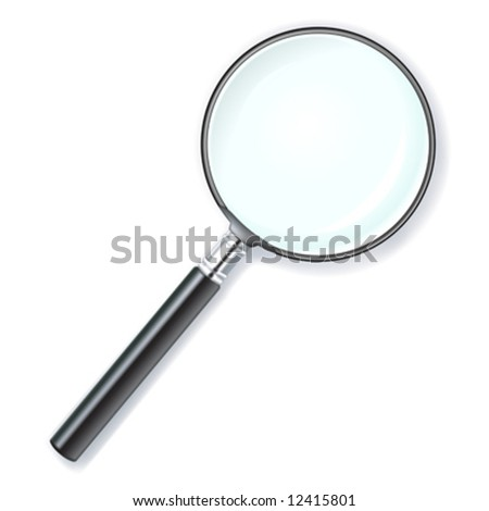 vector illustration of a magnifying lens