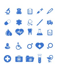 Vector illustration of a medical icons set