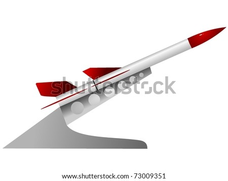 vector illustration of a military rocket launcher