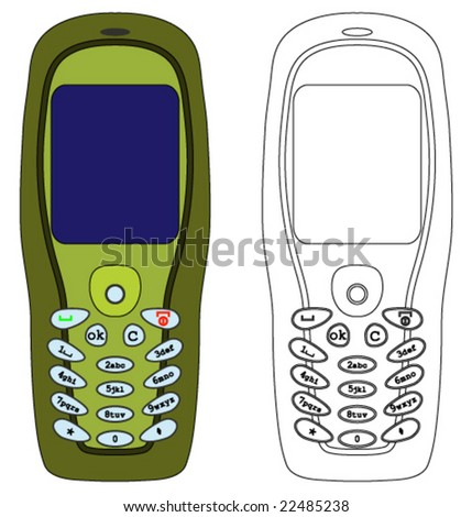Vector illustration of a mobile phone