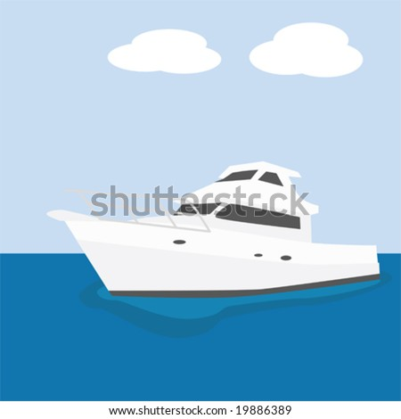Vector illustration of a modern powerful yacht