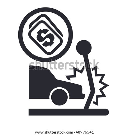 Or Quot Buy Quot Icon In Modern Style Depicting A Car Accident