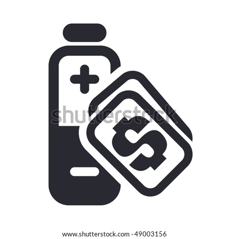 "Vector illustration of a ""money"", ""pay"" or ""buy"" icon in modern style depicting a energy cost"