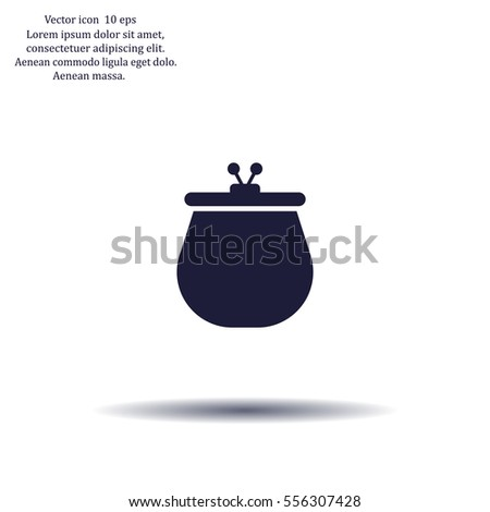 Vector illustration of a money purse