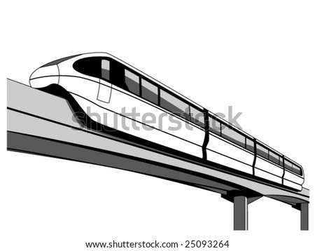 vector illustration of a monorail