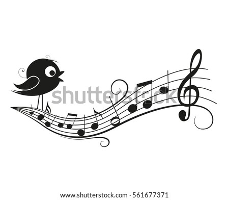 vector illustration of a music