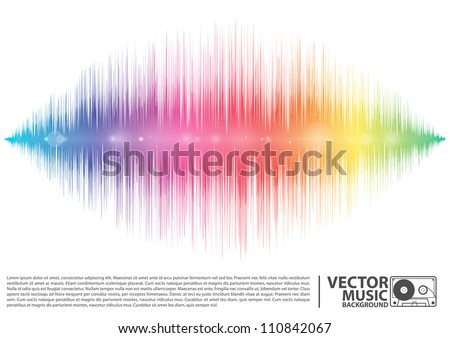 Vector illustration of a music equalizer wave