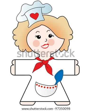 vector illustration of a nice cooking chef