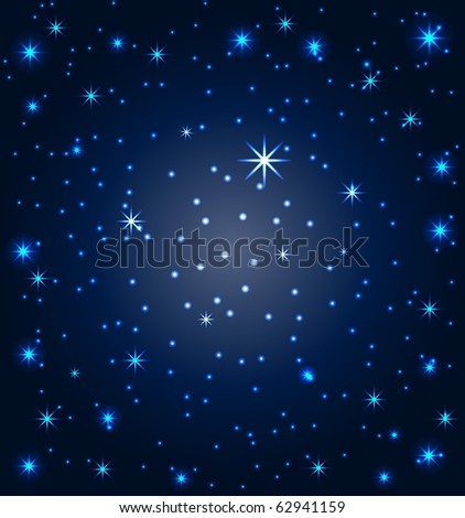 vector illustration of a night sky with stars