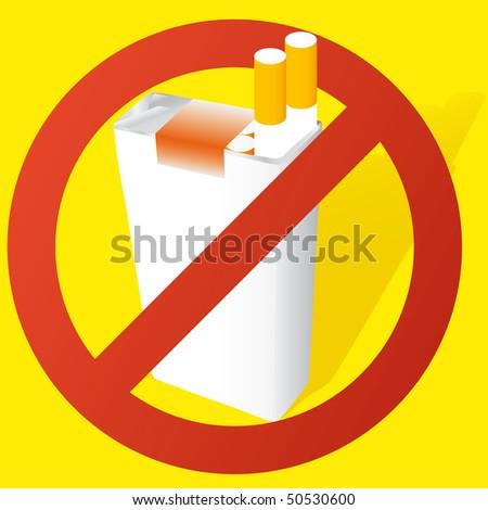 vector illustration of a no smoking sign