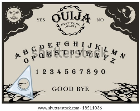 Vector Illustration Of A Ouija Board Planchette Can Be Moved Around
