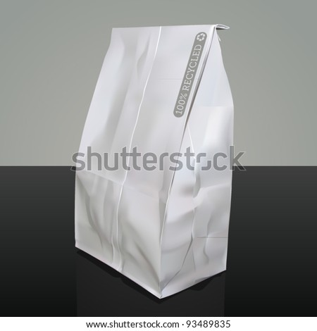 Vector illustration of a paper bag