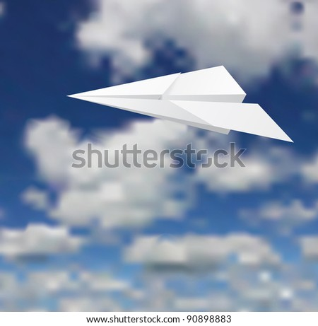 Vector illustration of a paper plane.