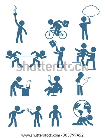 Vector illustration of a people in business set