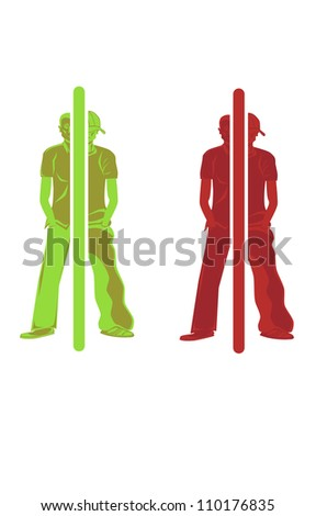 Vector illustration of a persons self transformation.