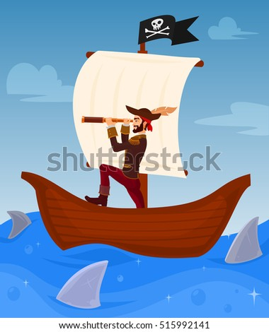vector illustration of a pirate