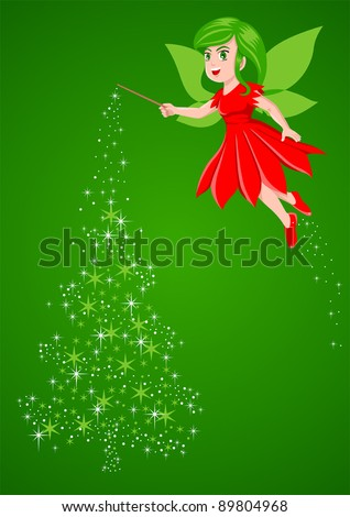 vector illustration of a pixie