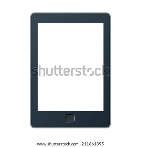 Vector illustration of a portable modern tablet pc e-book reader.