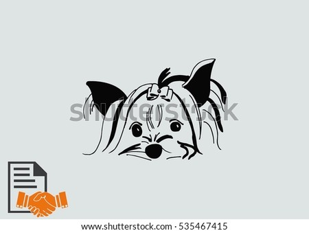 vector illustration of a puppy