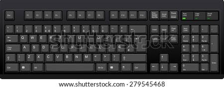 vector illustration of a qwerty