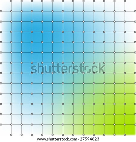 Vector illustration of a rectangular grid with color glows
