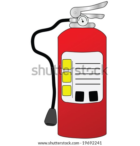 Vector illustration of a red fire extinguisher