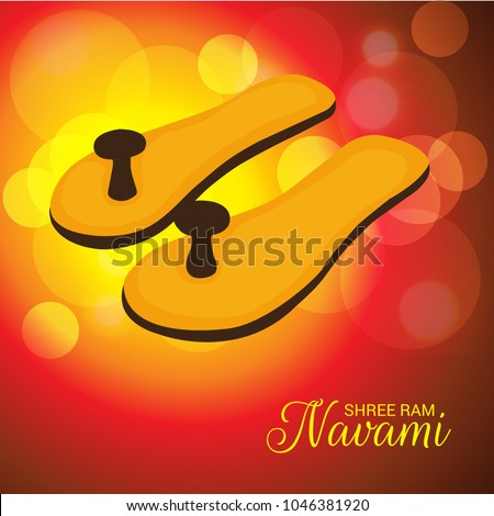 Vector illustration of a Religious Background for Shree Ram Navami.