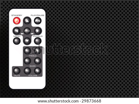 Vector illustration of a remote control on a metallic background