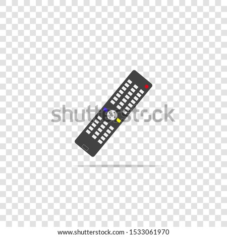 Vector illustration of a remote control. remote triggering device icon on transparent background.