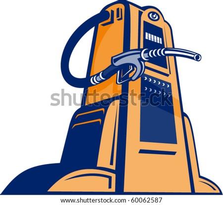 gas pump nozzle vector. stock vector : vector