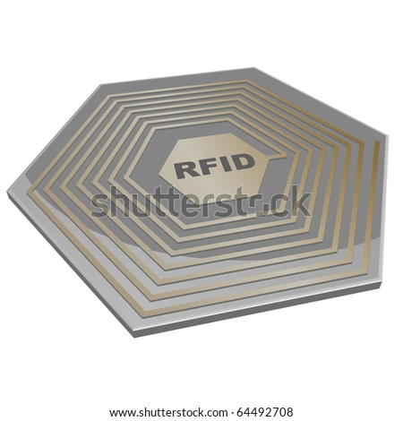 vector illustration of a rfid microchip