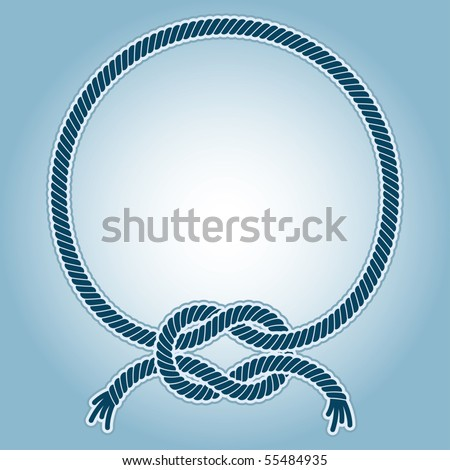 Vector illustration of a ring frame with with a sea knots.